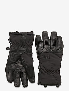 W LEATHER MIX GLOVE - accessories - 990 black