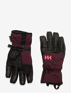 W LEATHER MIX GLOVE - accessoires - wild rose