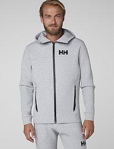 HP OCEAN FZ HOODIE - hoodies - grey melange