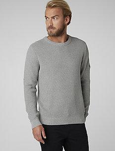 FJORD SWEATER - basic knitwear - grey melange