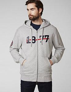 HH NORSE FZ HOODIE - hoodies - grey melange