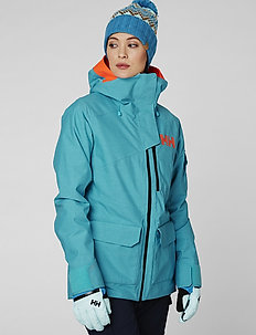 W POWDERQUEEN 2.0 JACKET - insulated jackets - scuba blue