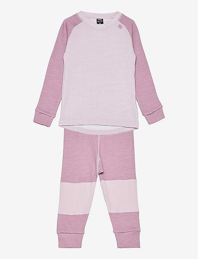 K HH LIFA MERINO SET - ensemble de sous-couche thermique - 067 pink ash