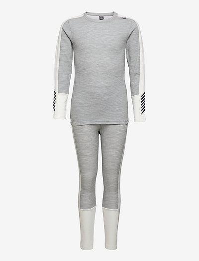 JR LIFA MERINO MIDWEIGHT SET - ensemble de sous-couche thermique - 950 grey melange
