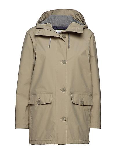 W Tsuyu Rain Coat Parka Mantel Grau HELLY HANSEN