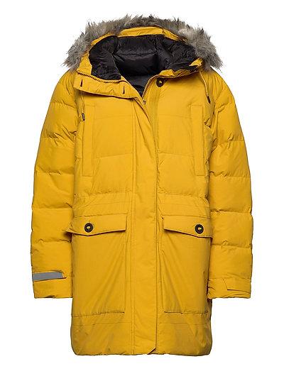 W Regina Parka Gefütterter Mantel Gelb HELLY HANSEN