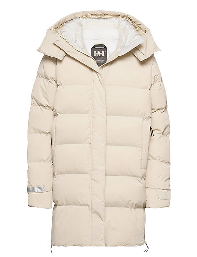 W Aspire Puffy Parka Gefütterter Mantel Creme HELLY HANSEN