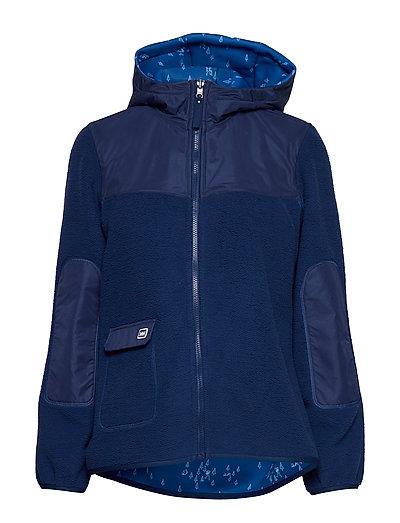 W Verket Reversible Pile Hoodie Pullover Blau HELLY HANSEN