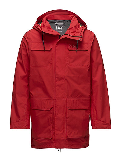 CAPTAINS RAIN PARKA - 222 ALERT RED