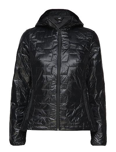W Lifaloft Hooded Insulator Ja Outerwear Sport Jackets Schwarz HELLY HANSEN