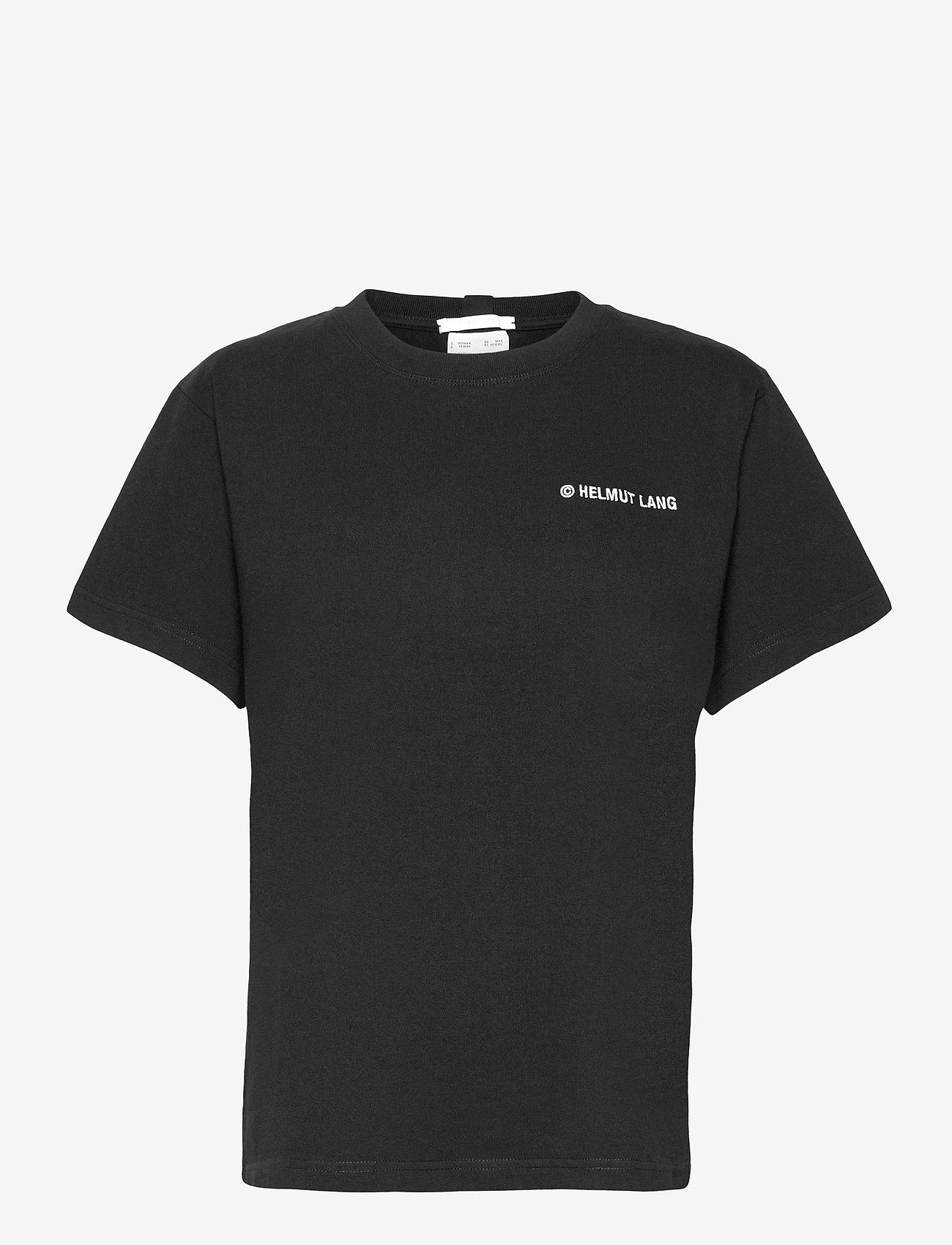 Helmut Lang - CLASSIC LOGO T.HVY C - t-shirts - black - 0