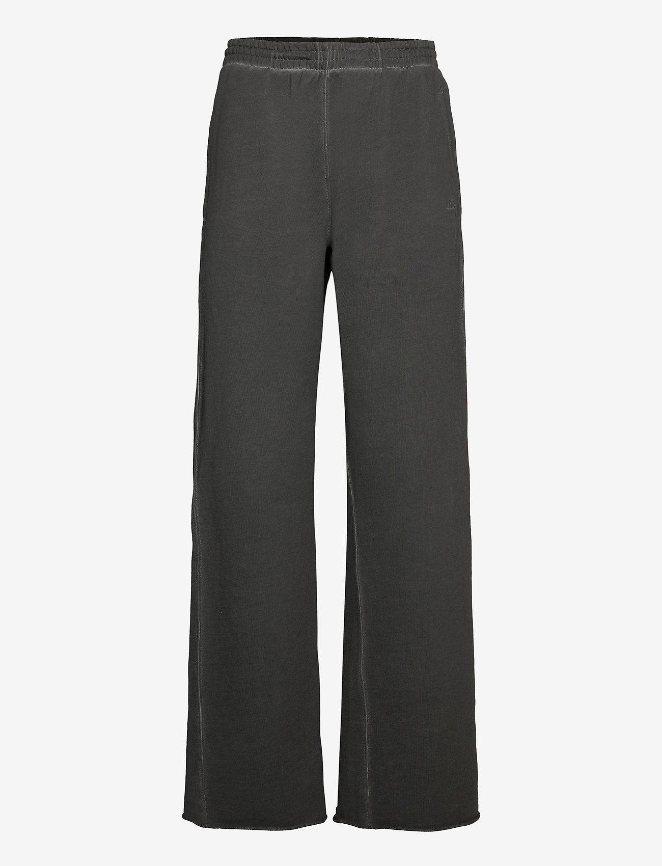 Helmut Lang - GD W LEG SWTPNT.GARM - bukser med brede ben - charcoal - 0