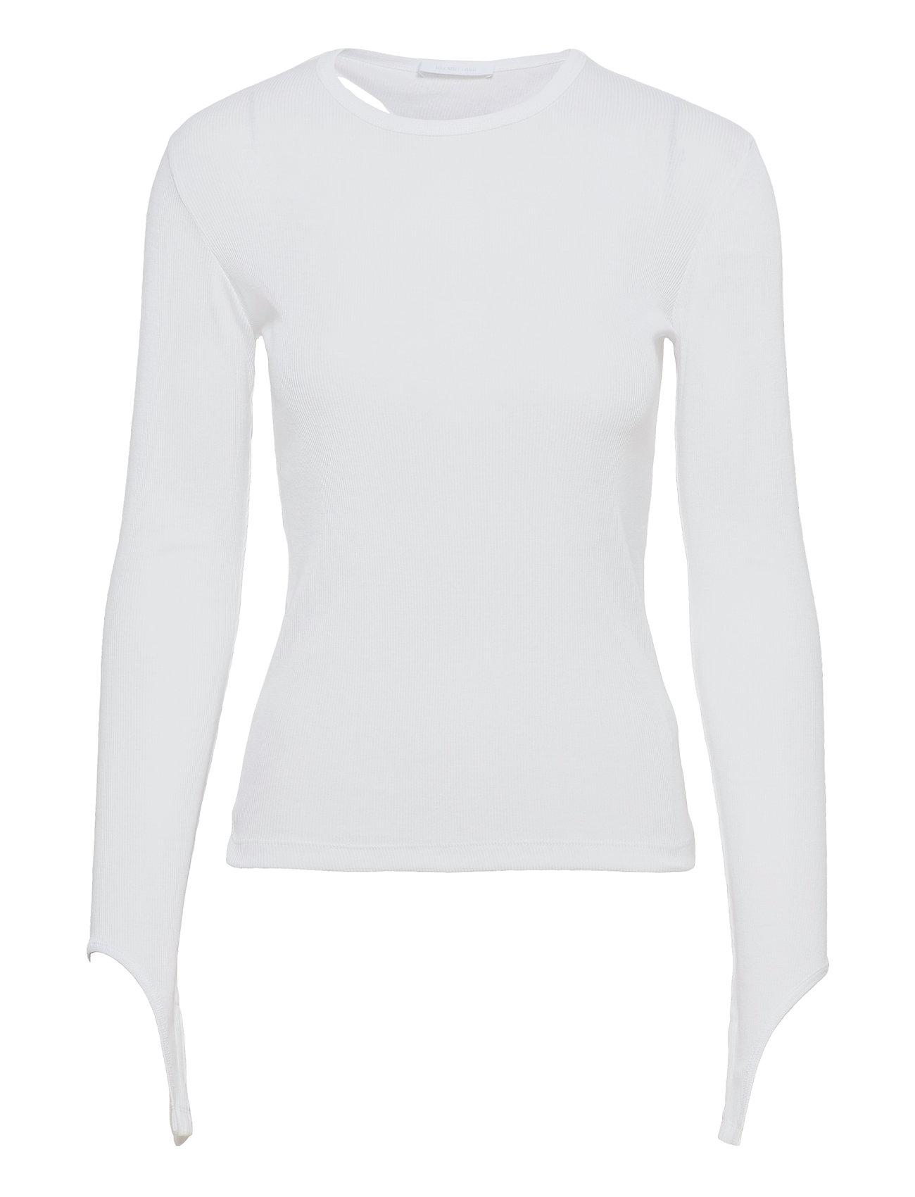 Open Back Ls.Base Do Langærmet T-shirt Hvid Helmut Lang