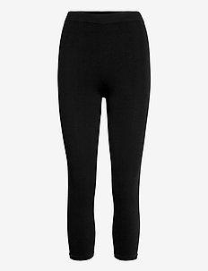 PEDAL PUSHERS.SEAMLE - bukser med smalle ben - black