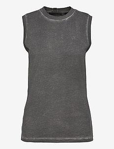 GD MUSCLE TEE.GARMEN - sleeveless tops - charcoal