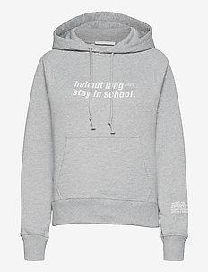 SCHOOL W HOODIE.SCHO - sweatshirts & hoodies - vapor heather