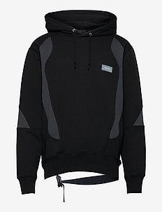 PANEL HOODIE.COLORBL - basic sweatshirts - black/navy