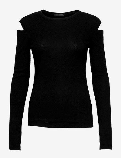 SLASH LONGSLEEVE T.1 - t-shirts & tops - black