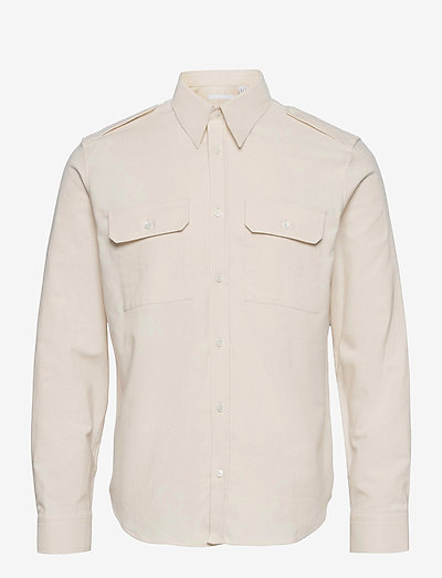 STRAP SHIRT.VINTAGE - casual shirts - powdered ecru