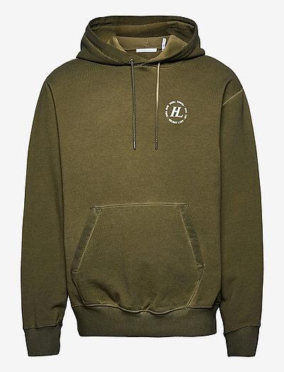 GD HOODIE.OVD TERRY - basic sweatshirts - birch green