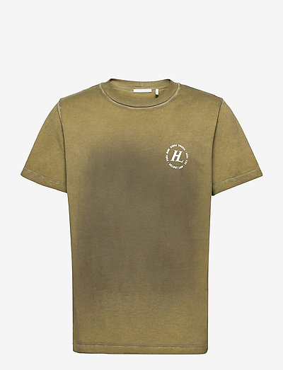 SPRAYED TSHIRT.OVD S - kortermede t-skjorter - birch green/charcoal