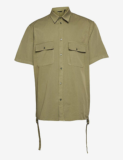 OVERSIZED SHIRT.OVD - casual shirts - burnt olive
