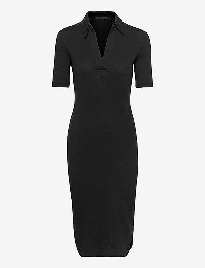 POLO DRESS.BASE DOUB - cocktailklänningar - basalt black