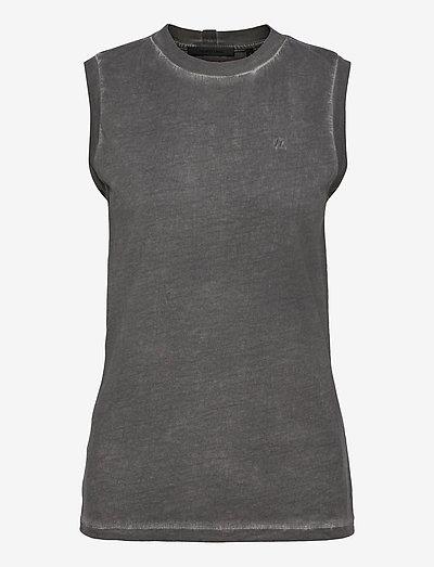 GD MUSCLE TEE.GARMEN - t-shirts & tops - charcoal