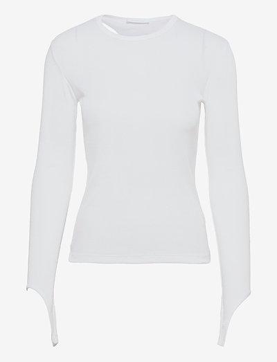 OPEN BACK LS.BASE DO - t-shirts & tops - chalk white