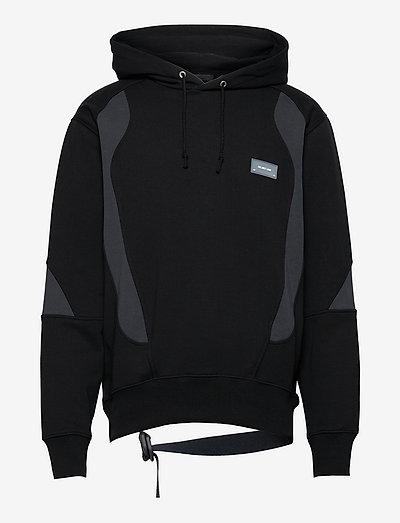 PANEL HOODIE.COLORBL - hoodies - black/navy