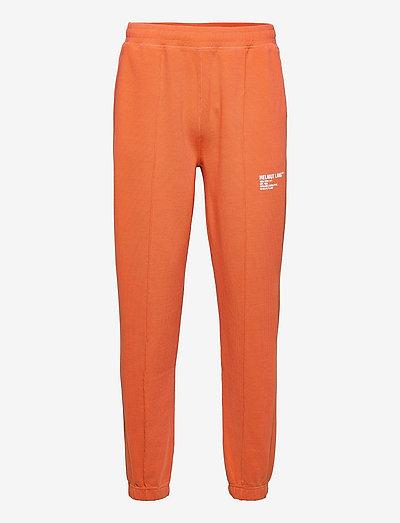 WAFFLE SWEATPANT.MIL - vêtements - industrial orange