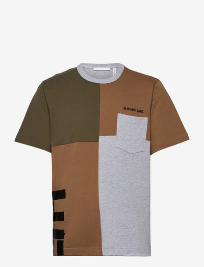 PATCHWORK SS TEE.PAT - t-shirts basiques - seaweed/walnut/vapor