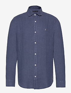 Solent Linen Shirt - linskjorter - navy