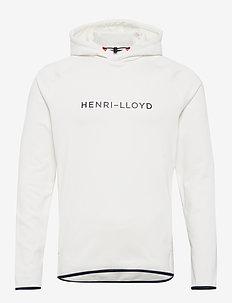 Mav HL Mid Hood - hettegensere - cloud white