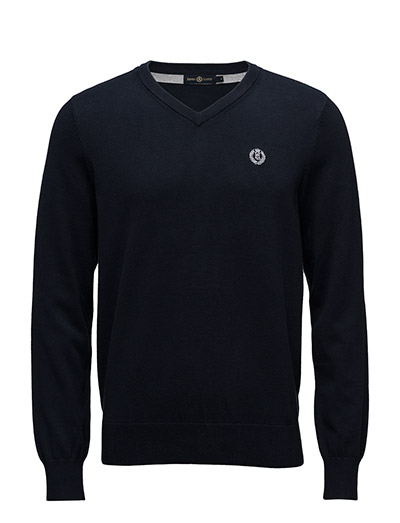 MORAY REGULAR V NECK KNIT - NAV