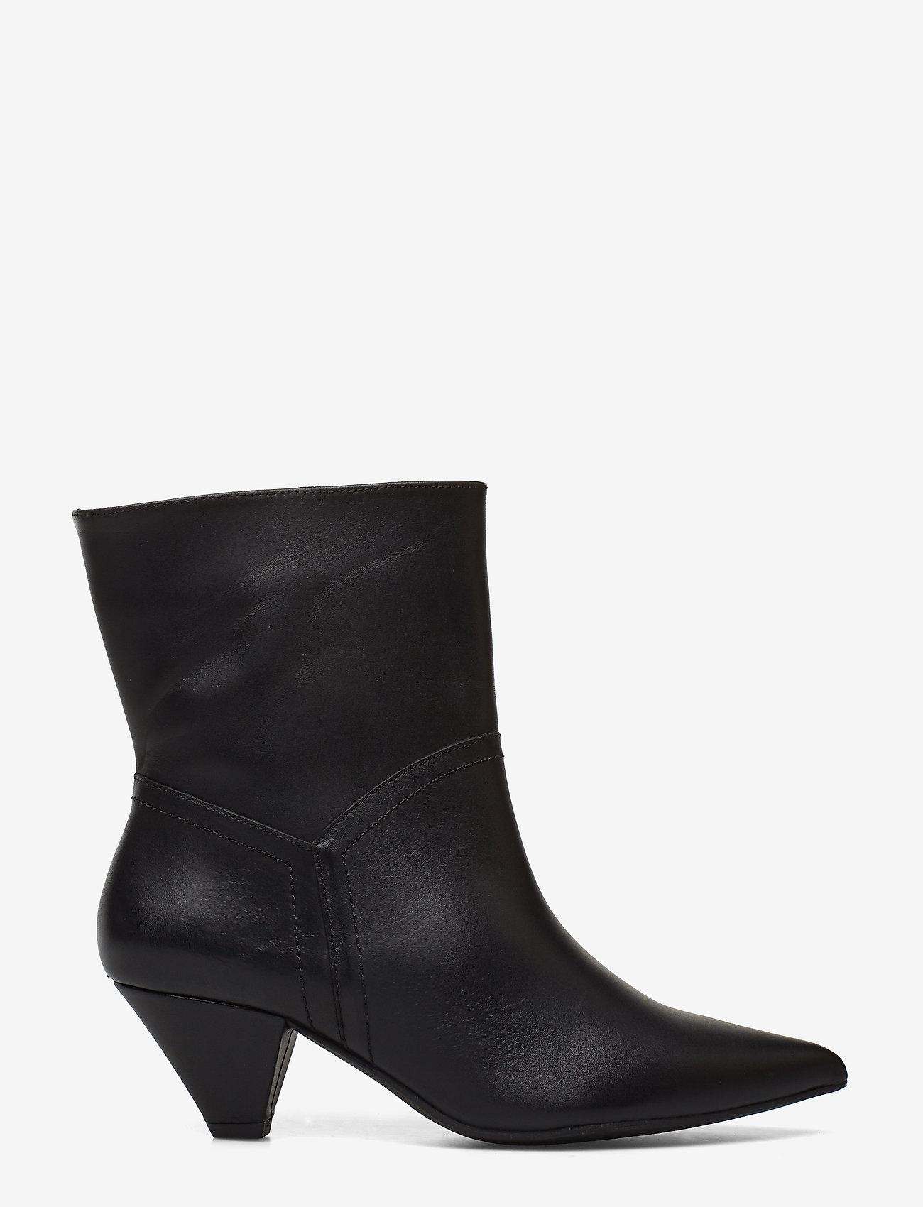 Henry Kole - Selena Leather Black - ankelstøvler med hæl - black - 1
