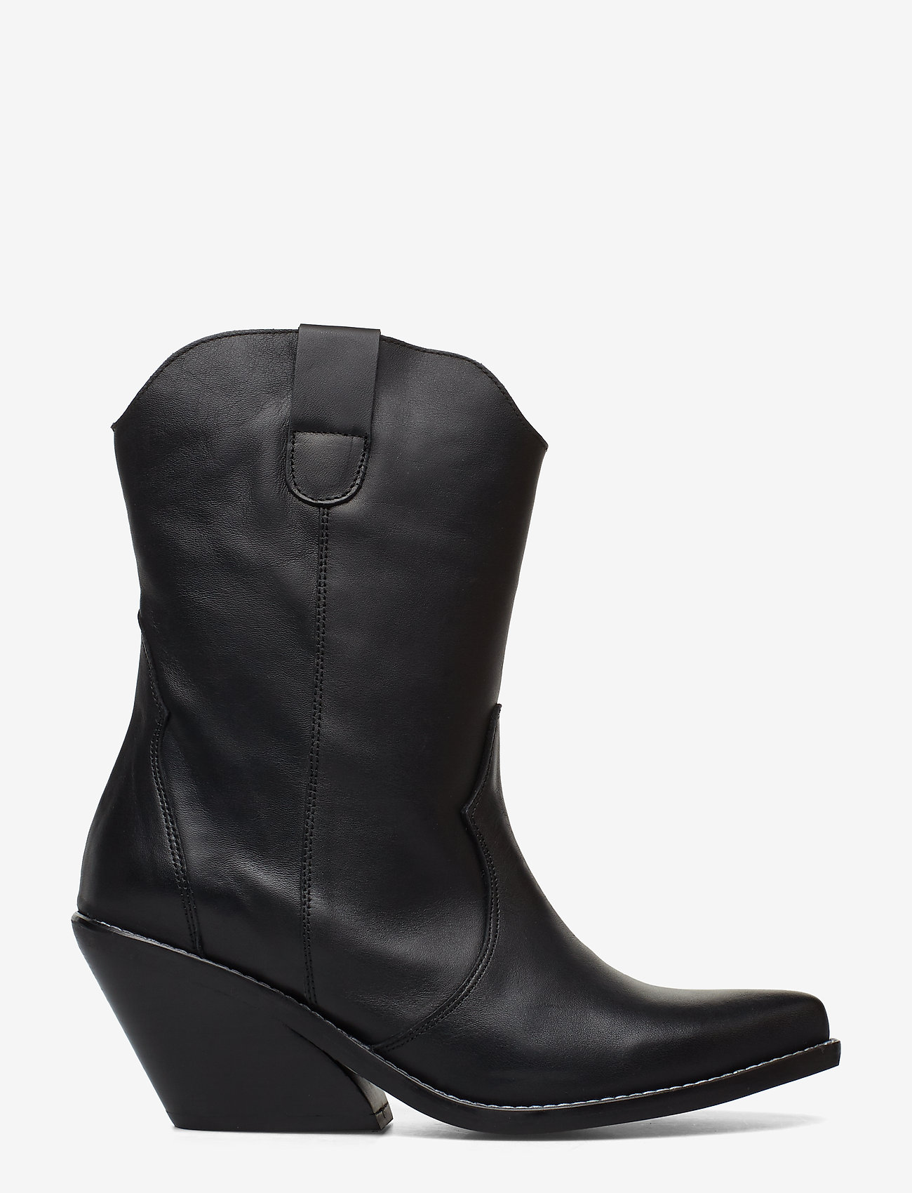 Henry Kole - Livia Leather Black - ankelstøvler med hæl - black - 1