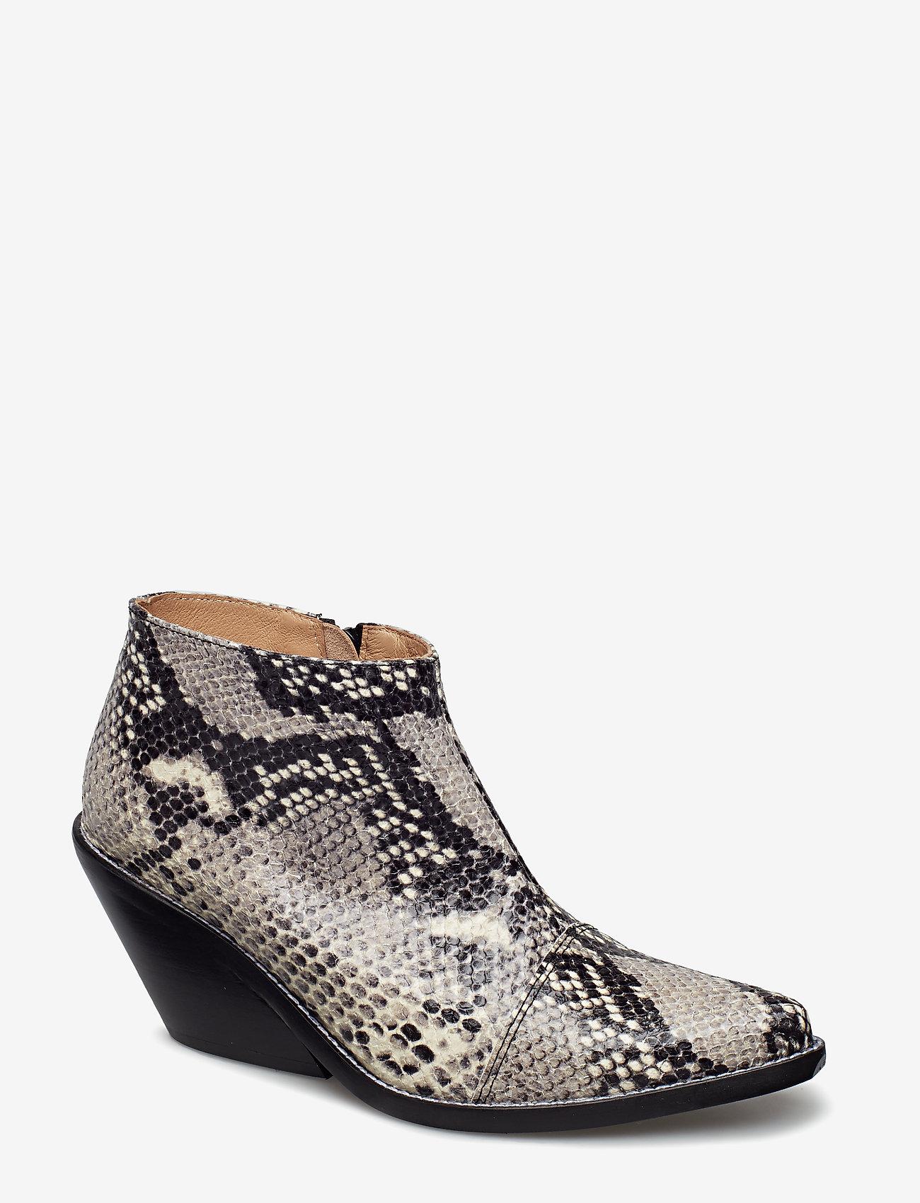 Henry Kole - Ava Snake - ankelstøvler med hæl - grey - 0