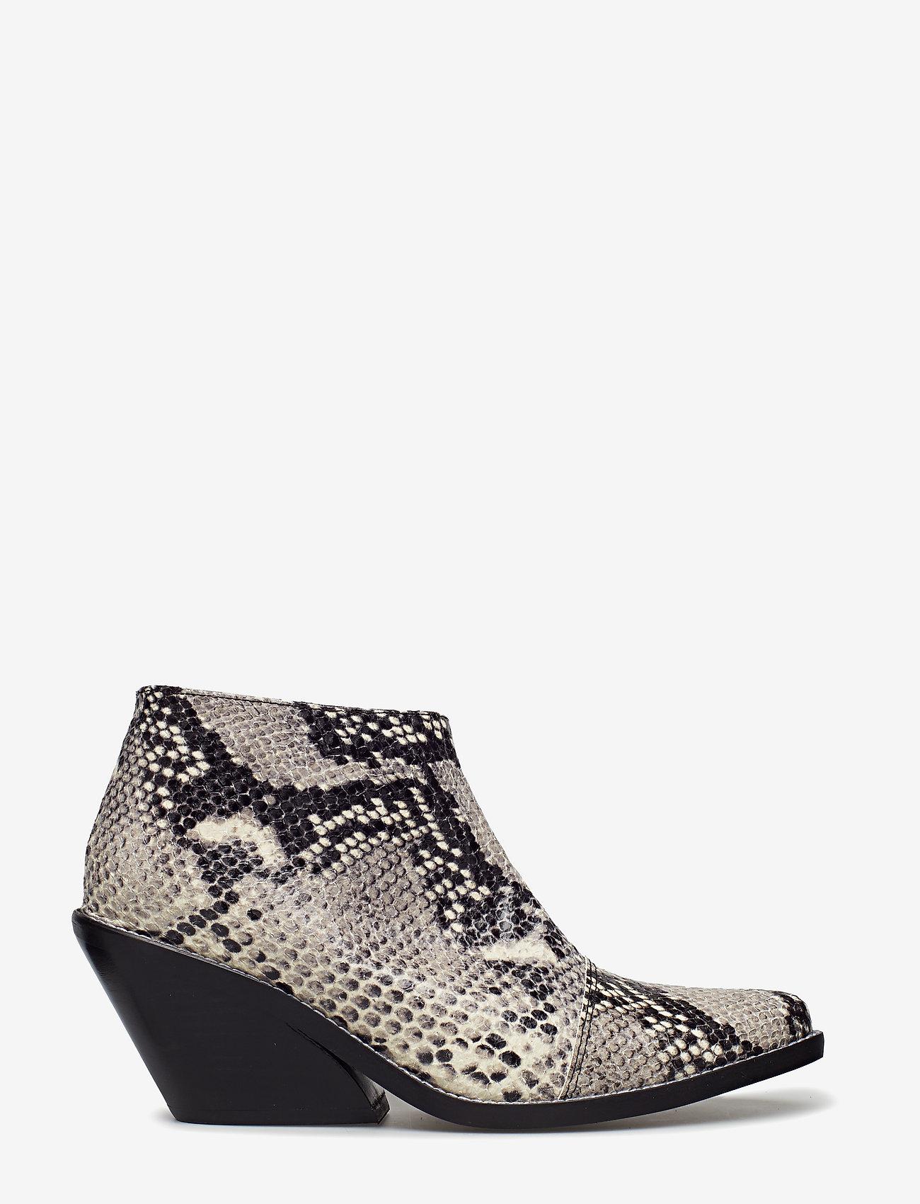 Henry Kole - Ava Snake - ankelstøvler med hæl - grey - 1