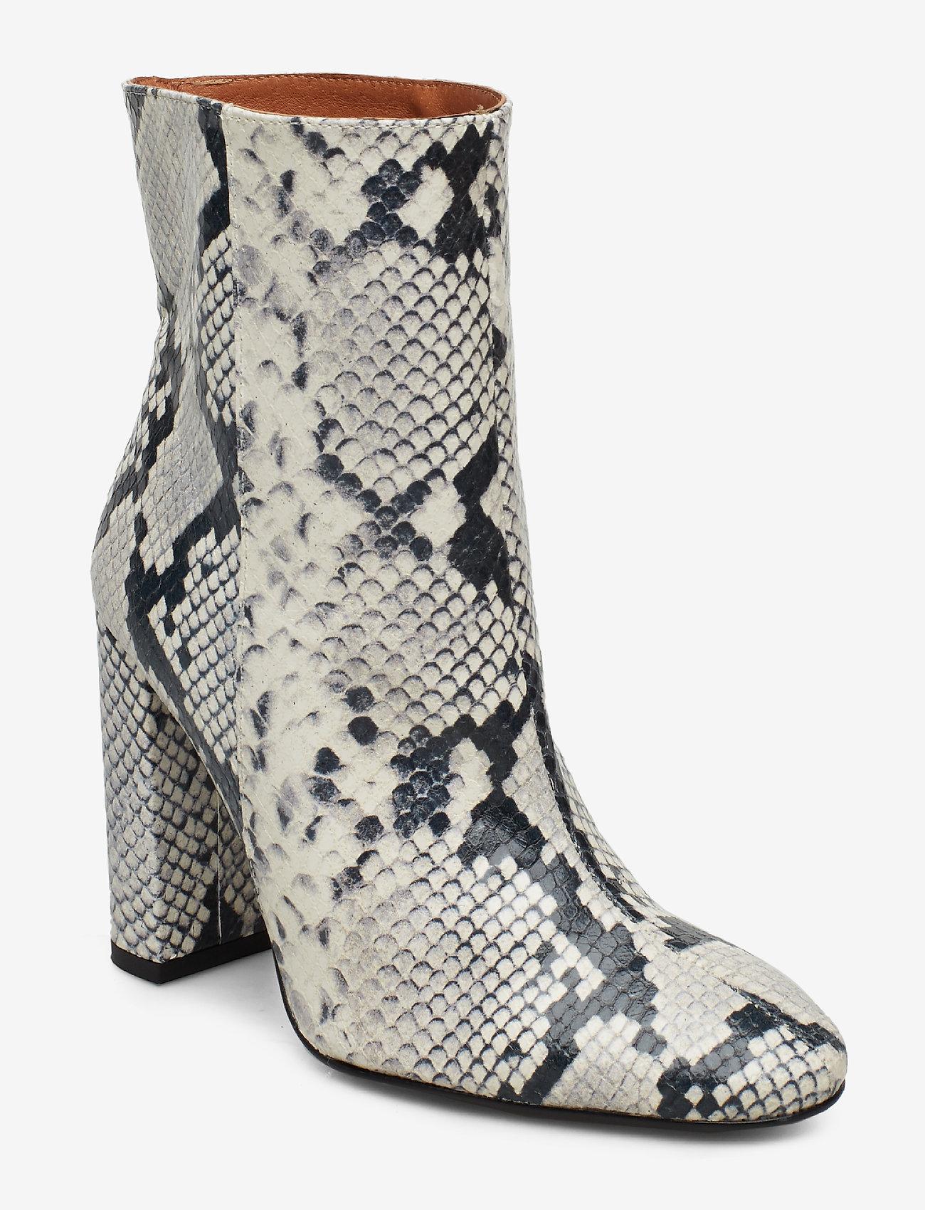 Henry Kole - Joan Snake Grey - ankelstøvler med hæl - grey - 0