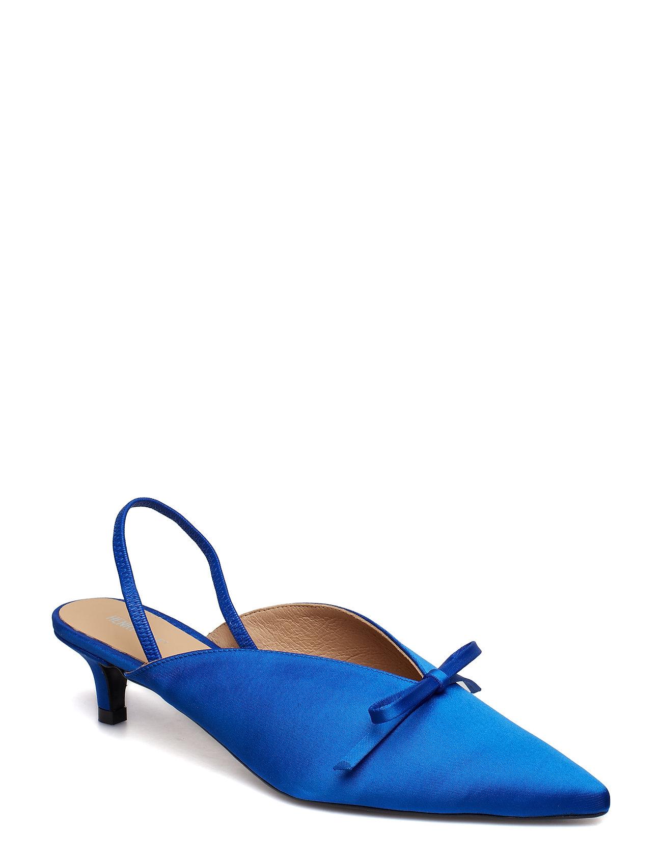 Henry Kole - Amelie Satin Blue - sling backs - blue