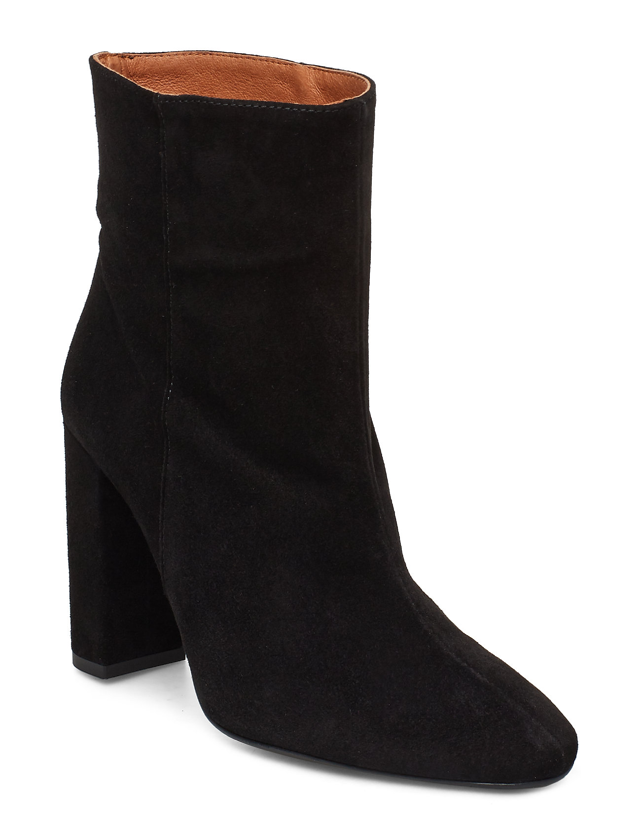 Image of Joan Suede Black Shoes Boots Ankle Boots Ankle Boot - Heel Sort Henry Kole (3406234429)