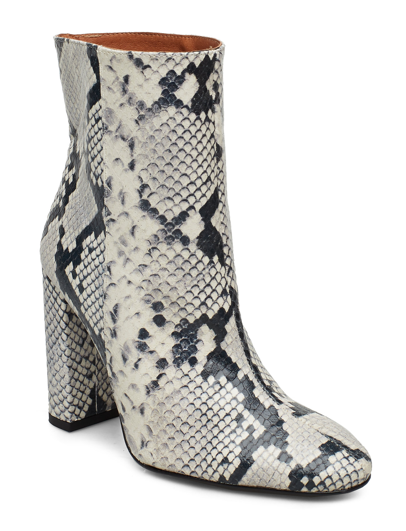 Image of Joan Snake Grey Shoes Boots Ankle Boots Ankle Boot - Heel Hvid Henry Kole (3406234425)