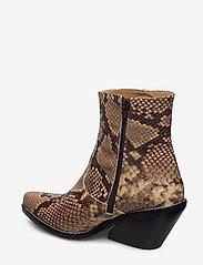 Henry Kole - Evie Snake Brown - ankelstøvler med hæl - brown - 2