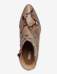 Henry Kole - Evie Snake Brown - ankelstøvler med hæl - brown - 3