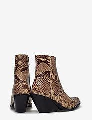 Henry Kole - Evie Snake Brown - ankelstøvler med hæl - brown - 4