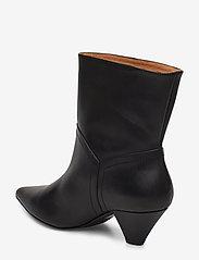 Henry Kole - Selena Leather Black - ankelstøvler med hæl - black - 2