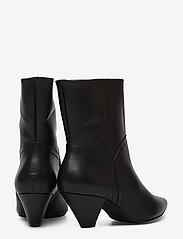 Henry Kole - Selena Leather Black - ankelstøvler med hæl - black - 4