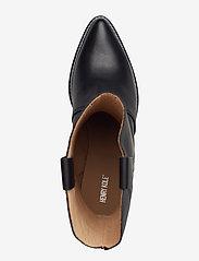 Henry Kole - Livia Leather Black - ankelstøvler med hæl - black - 3