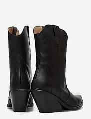 Henry Kole - Livia Leather Black - ankelstøvler med hæl - black - 4
